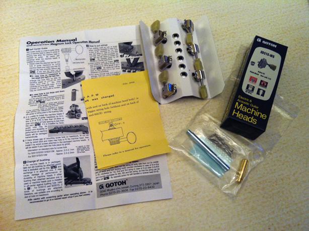 Gotoh Magnum Lock Kluson-style machinehead kit