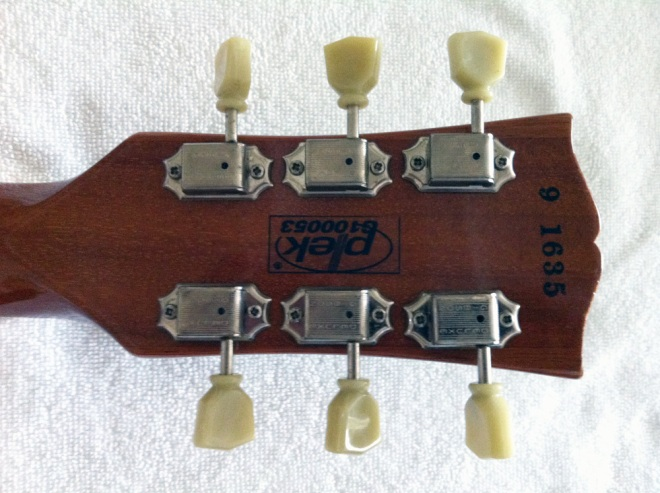 Gibson Les Paul Classic rear of headstock with original tuners