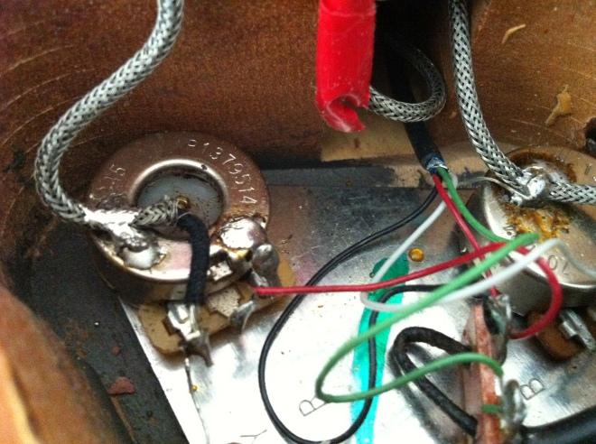 son Les Paul original wiring