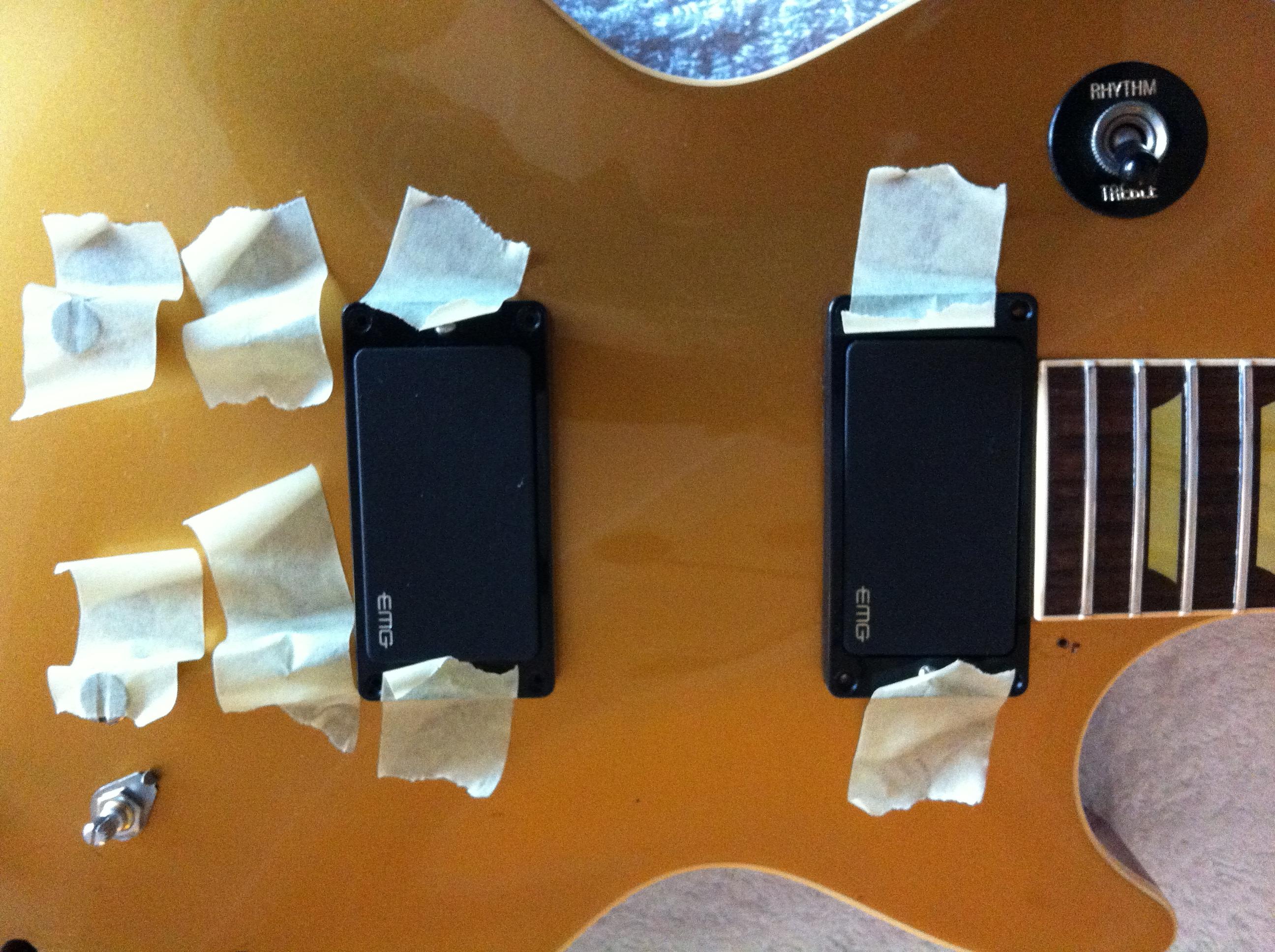 Les Paul Emg 81 85 Wiring Car Fuse Box Diagram How To Install Hz Pickup Classic Conversion Ade Phazy S Guitar Blog Rh Adephazy Com
