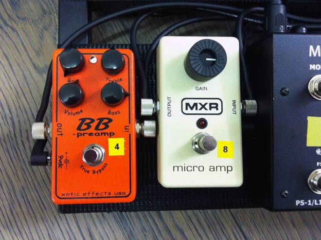 BB Preamp and MXR Mico Amp
